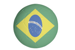 Brazillian flag graphic on football. Graphic of flag of Brazil on a soccer ball Stock Image