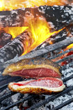 Brazillian Picanha. Juicy barbecue steak on the grill Stock Image