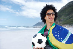 Brazillian soccer man Royalty Free Stock Photos