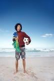 Brazillian soccer man Stock Photos