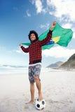 Brazillian soccer man Stock Image