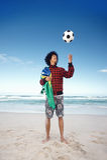 Brazillian soccer man Royalty Free Stock Photography
