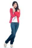 Brazo chino joven de la muchacha cruzado Fotografía de archivo