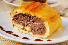Brazo de gitano,西班牙卷蛋糕 库存图片