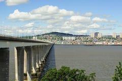 Brazo de mar del puente del camino de Tay, Escocia Fotos de archivo