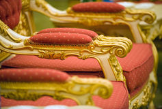 Brazo de sillas de lujo Fotos de archivo