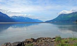 Brazo de Turnagain cerca de Anchorage fotografía de archivo