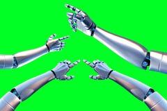 Brazo del robot Imagen de archivo libre de regalías