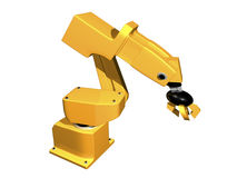 brazo robótico anaranjado 3D Imagen de archivo