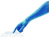 Brazo y mano de la tecnología de Digitaces Foto de archivo