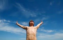 Brazos outstretched Foto de archivo libre de regalías