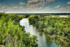 Brazos rzeka, Waco Texas Fotografia Royalty Free