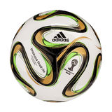 Brazuca Final. RIO DE JANEIRO - JUNE 20, 2014: Adidas Brazuca World Cup 2014 Football, The Official FIFA Matchball for the final game of 2014 World Cup Royalty Free Stock Image