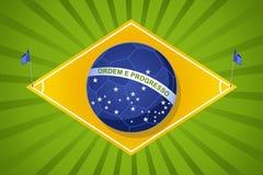 Brazylia 2014 światowych piłek nożnych mistrzostw, sądu chorągwiany balowy compositi Zdjęcie Royalty Free