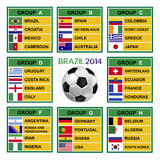 Brazylia filiżanka 2014, piłka nożna turniej. Fotografia Royalty Free
