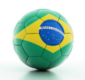 Brazylia flaga na futbolu Obraz Stock