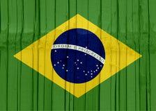 Brazylia flaga projekt Obrazy Royalty Free