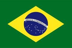 Brazylia flaga wektor chorągwiana Brazil ilustracja royalty ilustracja