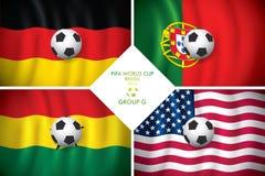 Brazylia 2014 G grupowa. FIFA słowo filiżanka. Fotografia Stock