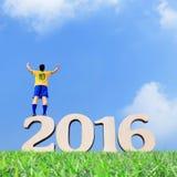 Brazylia gracza piłki nożnej mężczyzna Obrazy Stock