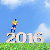Brazylia gracza piłki nożnej mężczyzna Obraz Royalty Free