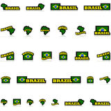 Brazylia ikony Fotografia Royalty Free