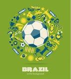 Brazylia ikony set royalty ilustracja