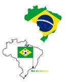Brazylia mapa Zdjęcia Stock