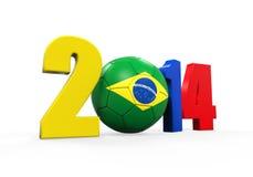 Brazylia piłka nożna 2014 Obrazy Stock