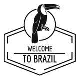 Brazylia ptasi logo, prosty czerń styl Fotografia Royalty Free