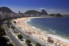 Brazylia Rio de Janeiro, Copacabana plaża - Obraz Royalty Free