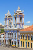 Brazylia Salvador Błękitny kościół Zdjęcie Stock