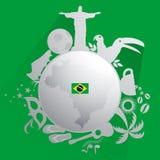 Brazylia tło Ilustracja Wektor