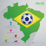 Brazylia tło Obrazy Royalty Free