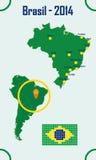 Brazylia W Infographic mapie Obrazy Royalty Free