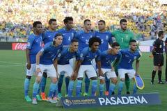 Brazylijczyk drużyna podczas Copa Ameryka Centenario Zdjęcia Stock