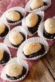 Brazylijscy deserowi cukierki Olho De Sogra od zgęszczonego mleka, prun Zdjęcie Royalty Free