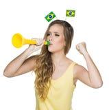 Brazylijscy fan, piłka nożna Zdjęcie Royalty Free