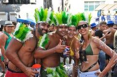 Brazylijscy ludzie Świętuje karnawał w ulicie Fotografia Royalty Free