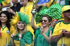Brazylijscy piłek nożnych fan obrazy stock