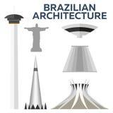 Brazylijska architektura Nowożytny płaski projekt również zwrócić corel ilustracji wektora Zdjęcie Royalty Free