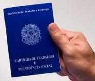 Brazylijska dokument praca zdjęcie royalty free