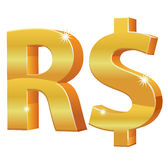 Brazylijska Istna waluta 3D zdjęcie royalty free