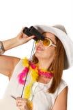 Brazylijska kobieta patrzeje obrazy stock