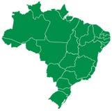 brazylijska mapa Zdjęcia Royalty Free