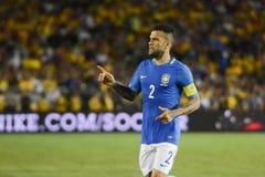 Brazylijska piłka nożna Dań Alves podczas Copa Ameryka Centenario Obraz Stock