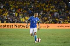 Brazylijska piłka nożna Dań Alves podczas Copa Ameryka Centenario Zdjęcia Stock