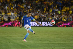 Brazylijska piłka nożna Dań Alves podczas Copa Ameryka Centenario Obraz Royalty Free
