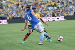 Brazylijska piłka nożna Filipe podczas Copa Ameryka Centenario Zdjęcie Royalty Free