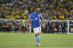 Brazylijska piłka nożna Lucas podczas Copa Ameryka Centenario Obraz Royalty Free